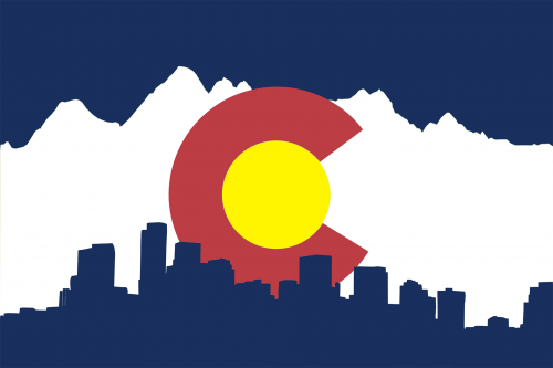 colorado-flag-denver-skyline